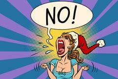 Nessuna donna di Santa di grida Fotografia Stock
