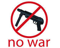 Nessuna guerra Immagini Stock Libere da Diritti