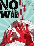 Nessuna guerra Retro manifesto tipografico di pace di lerciume Illustrazione di vettore Immagine Stock Libera da Diritti