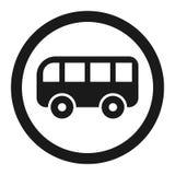 Nessuna linea icona del segno di proibizione del bus illustrazione vettoriale