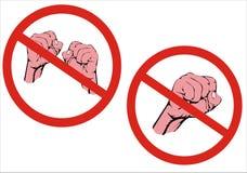Nessuna lotta! Nessun'aggressione! Fotografie Stock