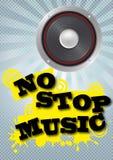 Nessuna musica di arresto Fotografia Stock Libera da Diritti