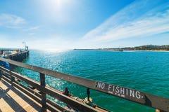 Nessuna pesca firma dentro il pilastro di Santa Barbara Fotografie Stock