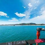 Nessuna pesca firma dentro il pilastro di Santa Barbara Fotografie Stock Libere da Diritti