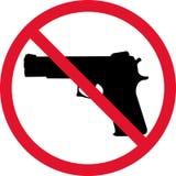 Nessuna pistola Immagini Stock