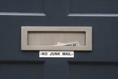 Nessuna posta di roba di rifiuto Fotografie Stock Libere da Diritti