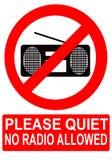 Nessuna radio permessa Fotografie Stock Libere da Diritti