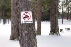 Nessuno Snowmobiling Fotografia Stock