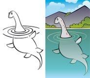 Nessy, monstro de Loch Ness Ilustração Stock
