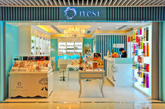 Nest beauty care products outlet, hong kong Stock Image