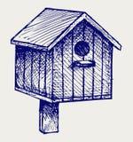 Nest box birdhouse. Doodle style Stock Photos
