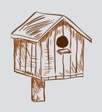 Nest boxas birdhousen Royaltyfria Bilder