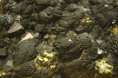 Nest of chalcopyrite Royalty Free Stock Photography