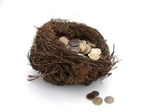 Nest-egg Royalty Free Stock Photography
