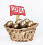 Nest Egg and cash Royalty Free Stock Image