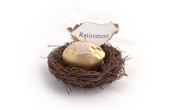 Nest Egg on Fire Royalty Free Stock Photos