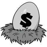 Nest Egg Illustration. A vector cartoon illustration of a Nest Egg concept Stock Image