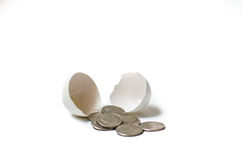 Nest Egg. Money hatched from an egg Stock Photo