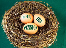 Nest egg for retirement Stock Photography