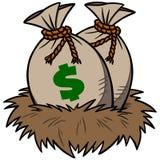 Nest Egg Savings. A vector illustration of a Nest Egg Savings Stock Images