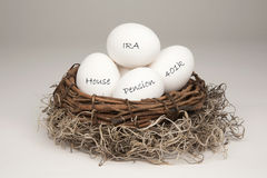 Free Nest Egg White Royalty Free Stock Image - 17687366