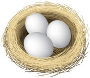 Nest eggs stock illustration