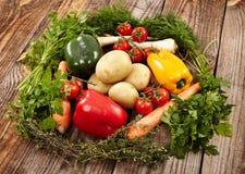 Nest of fresh vegetables Stock Photo