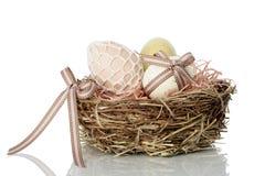 Nest full of Easter Eggs Royalty Free Stock Photography
