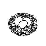 Nest im Schwarzen Lizenzfreies Stockbild