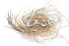 Nest and peace. Abstract for born to peace Royalty Free Stock Images