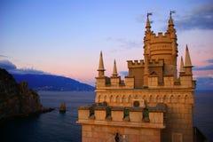 Nest-Schloss der Schwalben-s Stockbild