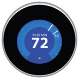 Nest Thermostat Blue Stock Photography