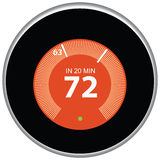 Nest Thermostat Red Stock Image