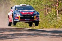 Neste油集会芬兰2011年- Sébastien Loeb 库存照片