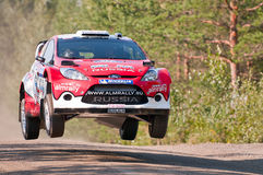 Neste Oil Rally Finland 2011 - Evgeny Novikov Royalty Free Stock Photo