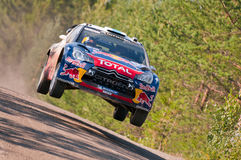 Neste Oil Rally Finland 2011 - Sébastien Ogier Stock Photography
