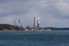 Neste-Raffinerie Stockfotografie