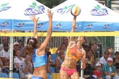Nestea turnerar pro-stranden öppna Kalamis Arkivbild