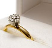 Nested Diamond Ring Stock Image