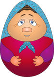 Nested doll. Vector drawing: Russian wooden toy a nested doll Stock Photo