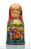 Nested doll. A Old national Russian doll of handwork Stock Image