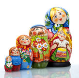 Nested doll. A Old national Russian doll of handwork Stock Photography