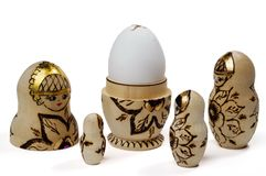 Nested doll and egg Stock Image