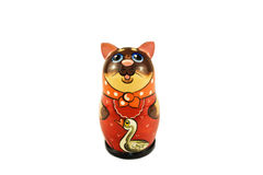Nested doll in the form of a cat Royalty Free Stock Photography