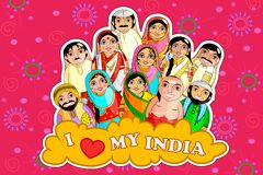 Free Nested Doll Indian Couple Representing Diverse Culture From Different States Royalty Free Stock Photo - 112695845