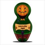 Nested doll pumpkin. Halloween Royalty Free Stock Photos
