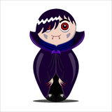 Nested doll vampire. Halloween Royalty Free Stock Images