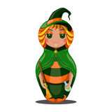 Nested doll witch. Halloween Stock Images