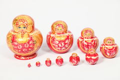 nested dolls. Russian souvenir wooden nested dolls a good gift Royalty Free Stock Photos