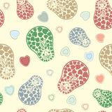 Nested dolls. Seamless russian doll background pattern Stock Photography